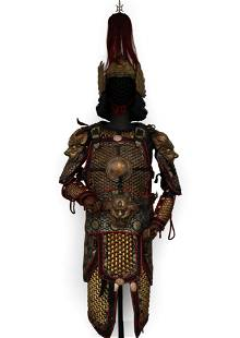 RARE CHINESE MING ARMOR SUIT AND HELMET
