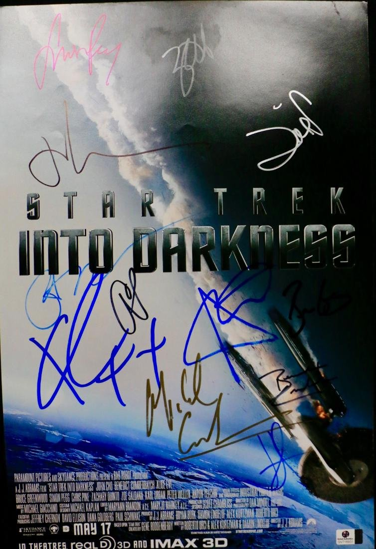 STAR TREK SIGNED POSTER