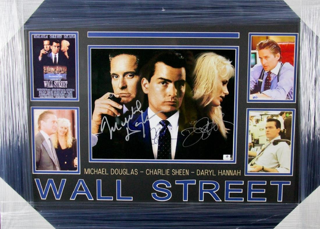 Wall Street signed photo