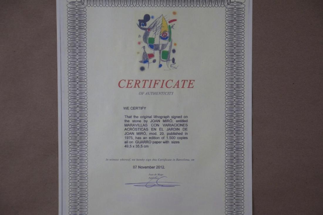 Joan Miro Original Lithograph - 2