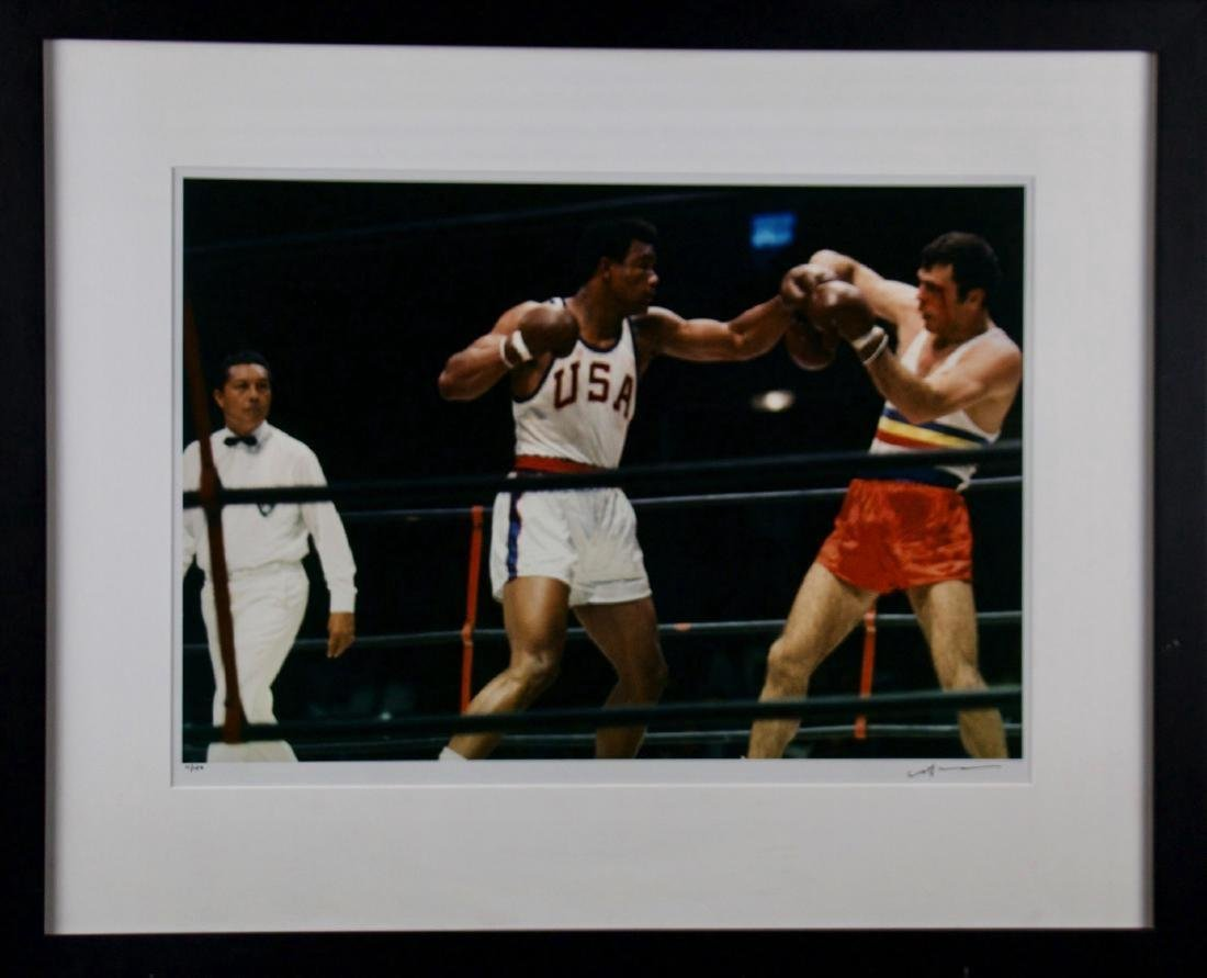Neil Leifer- George Foreman fighting in Olympics