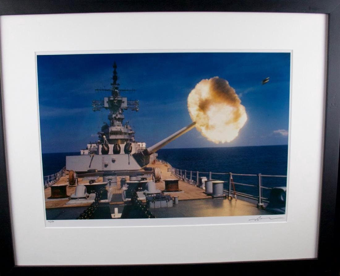 Neil Leifer- Battleship New Jersey (With Shell)