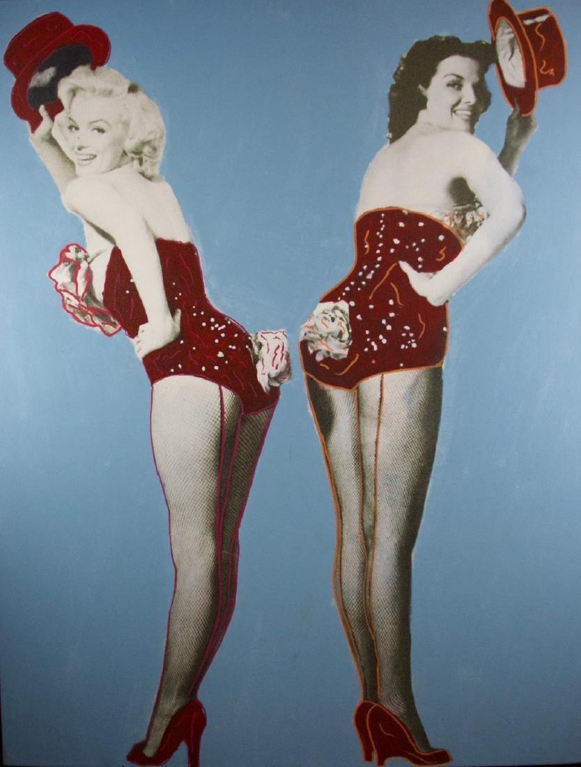 Steve Kaufman - Marilyn Monroe & Jane Russell