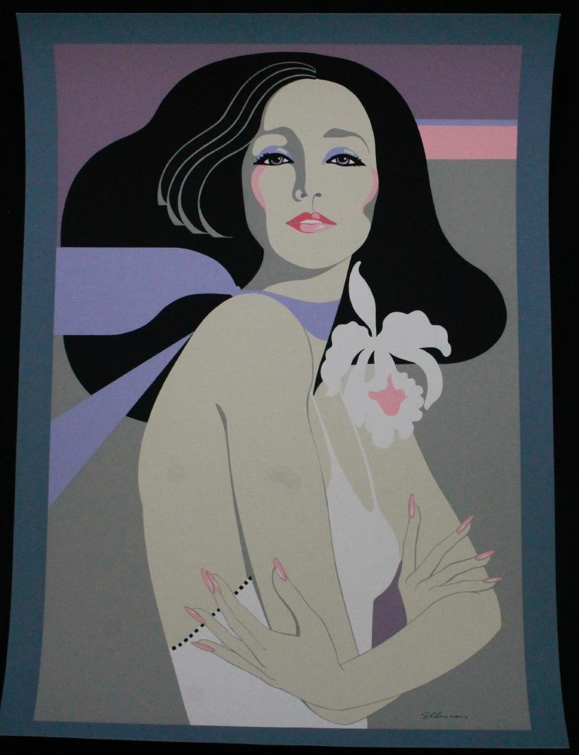 Woman with White Flower