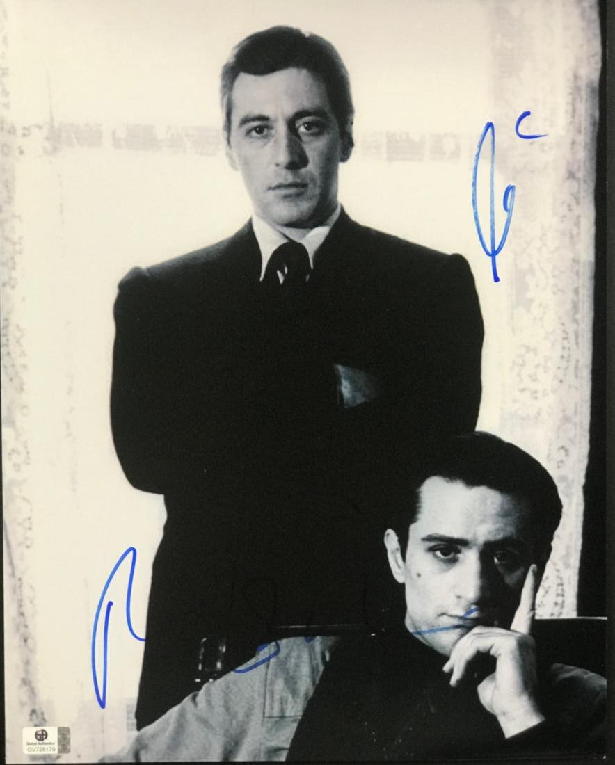 """THE GODFATHER"" AL PACINO & ROBERT DENIRO SIGNED PHOTO"
