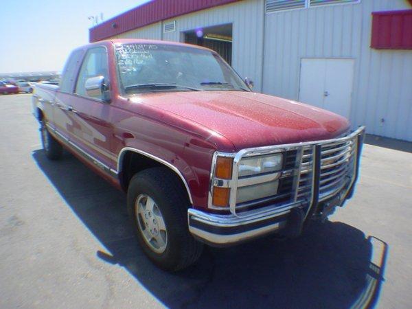 1003: 1992 Chev Truck 1500 Red Vin#2GCEK19KON1260162 Co