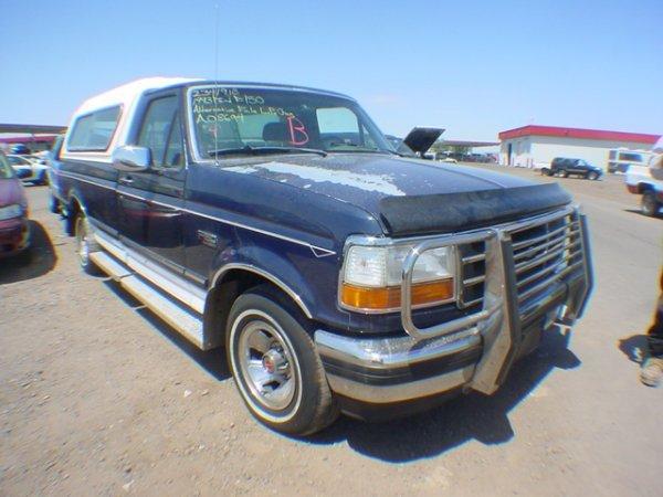 1004: 1993 Ford Truck F150-2-R XLT Blue Vin # 1FTDF15Y2