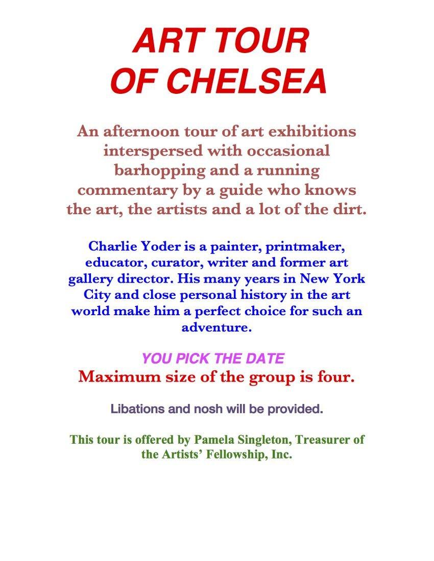 Art Tour in Chelsea  Pam Singleton