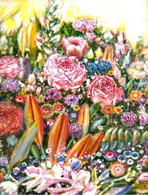 """Study for ""My Garden""  Morton Kaish"