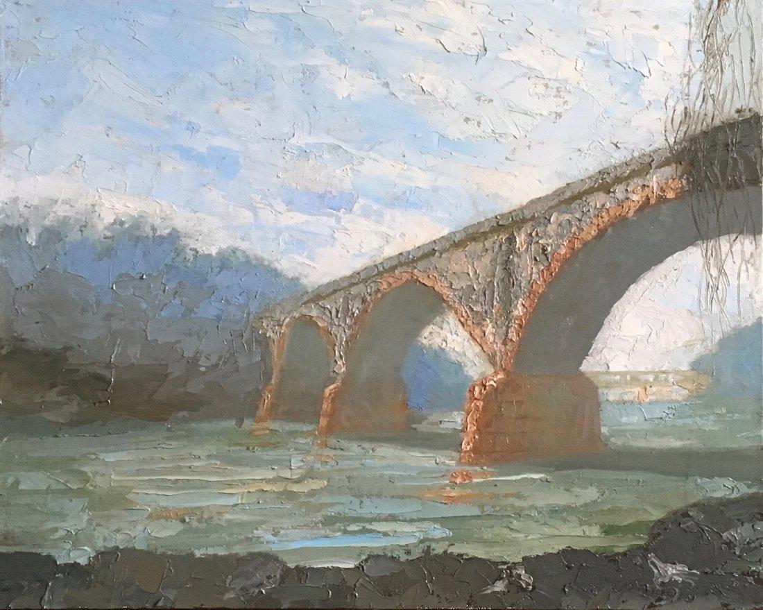 "W. Falls Bridge, Late Winter.."" by Patrick Connors"
