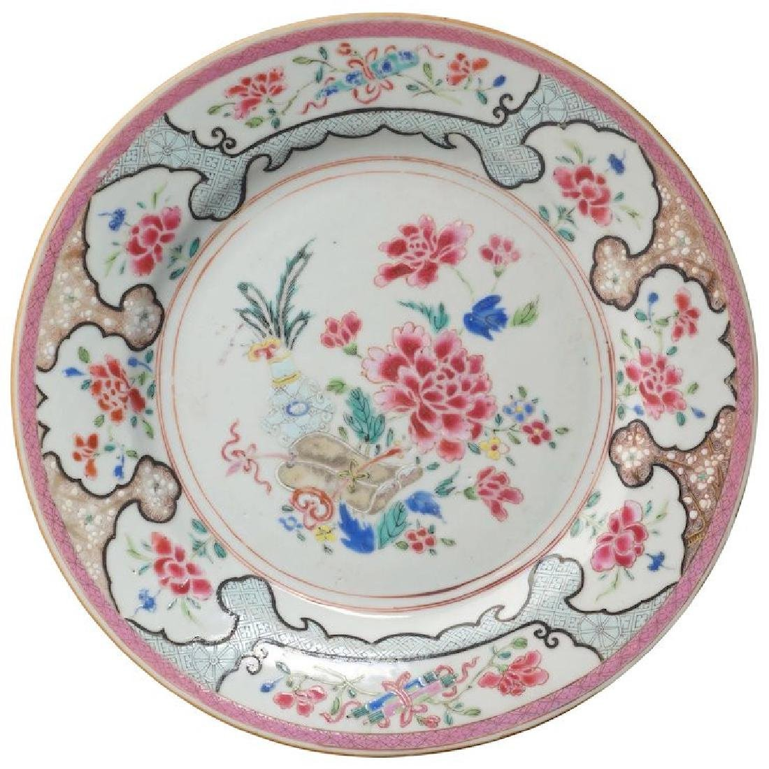 Chinese export over glaze enamel famille rose porcelain