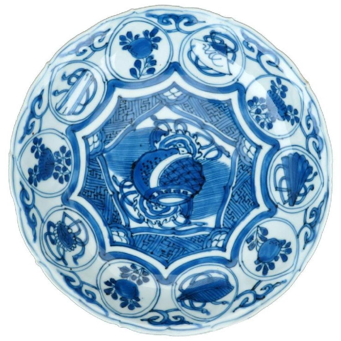 Wanli Chinese porcelain Kraak ware blue and white