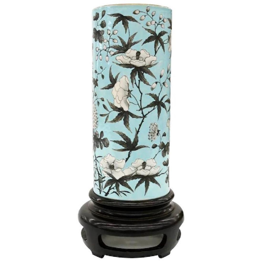 Chinese porcelain pale turquoise Dayazhai sleeve vase
