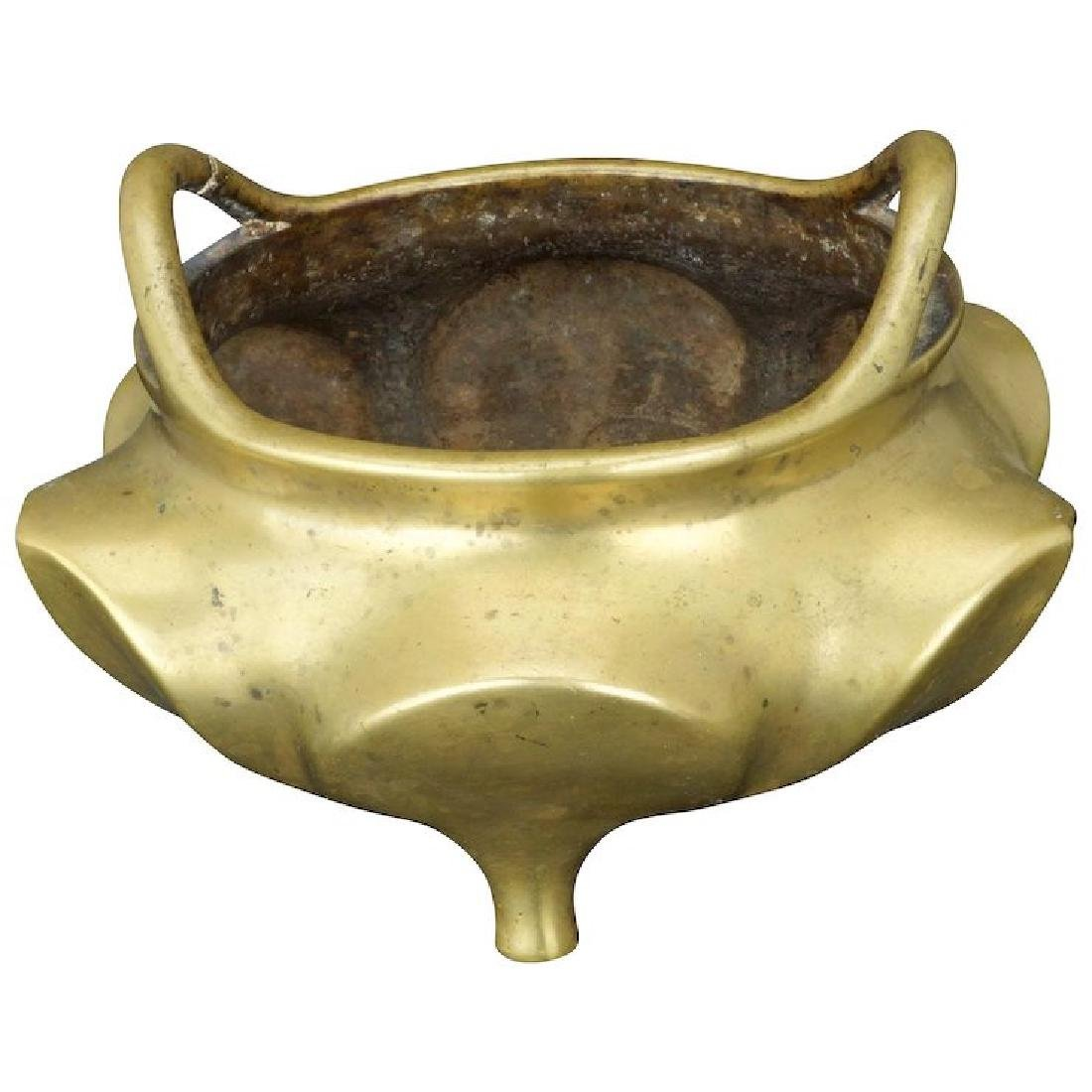 Antique Chinese bronze censer with Xuande mark circa