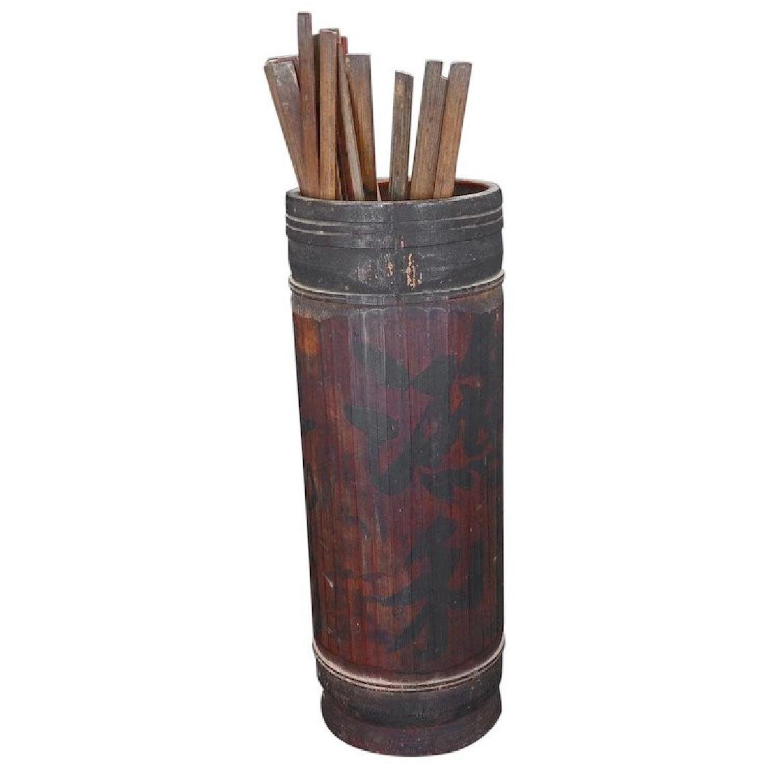 Chinese fortune telling bamboo holder and bamboo