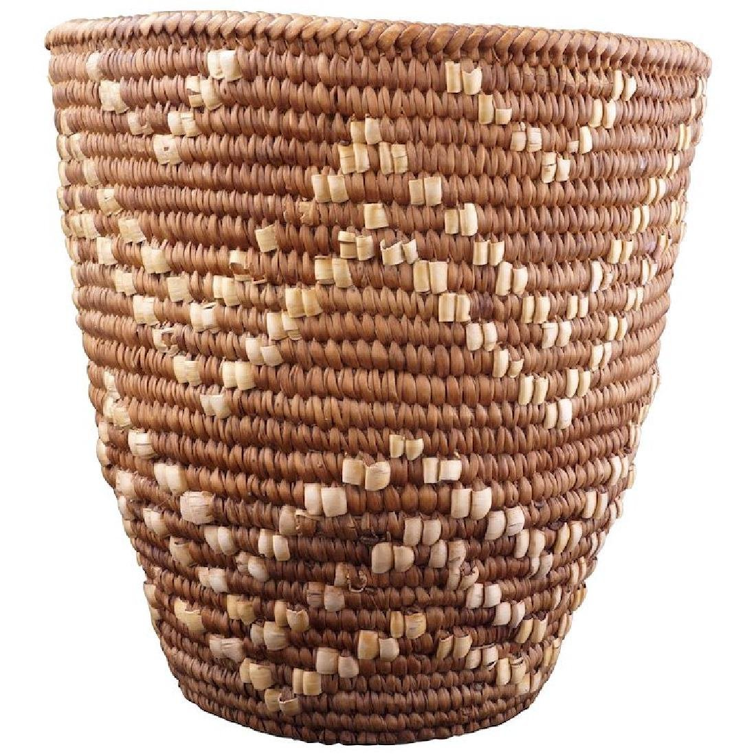 Imbricated Indian Klickitat berry basket early 20th