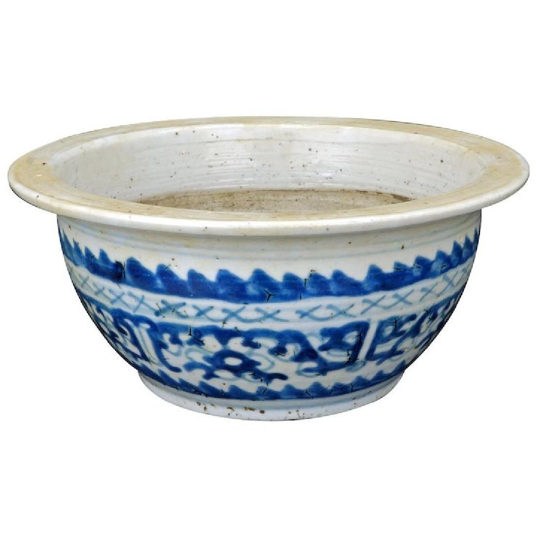 Chinese blue and white porcelain censer bowl with