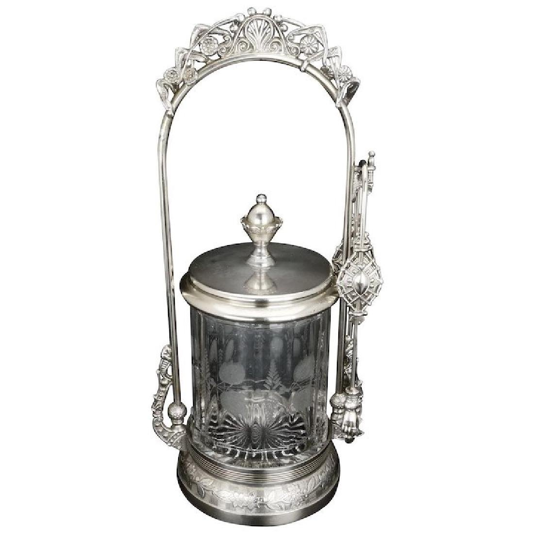 Victorian silver plate pickle castor by Wilcox late