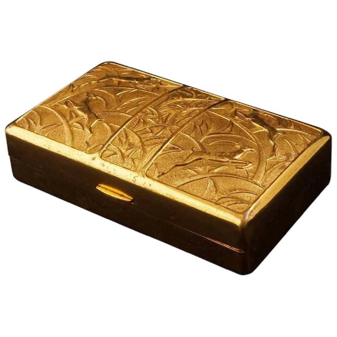 Elgin America art deco gilded Cosmetic Compact Carryall