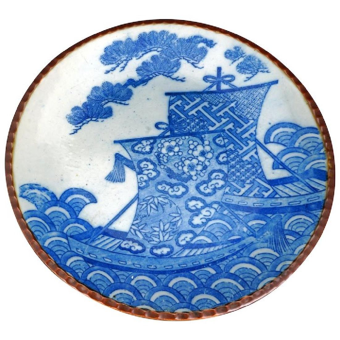 Japanese blue and white porcelain Igezara 12†charger