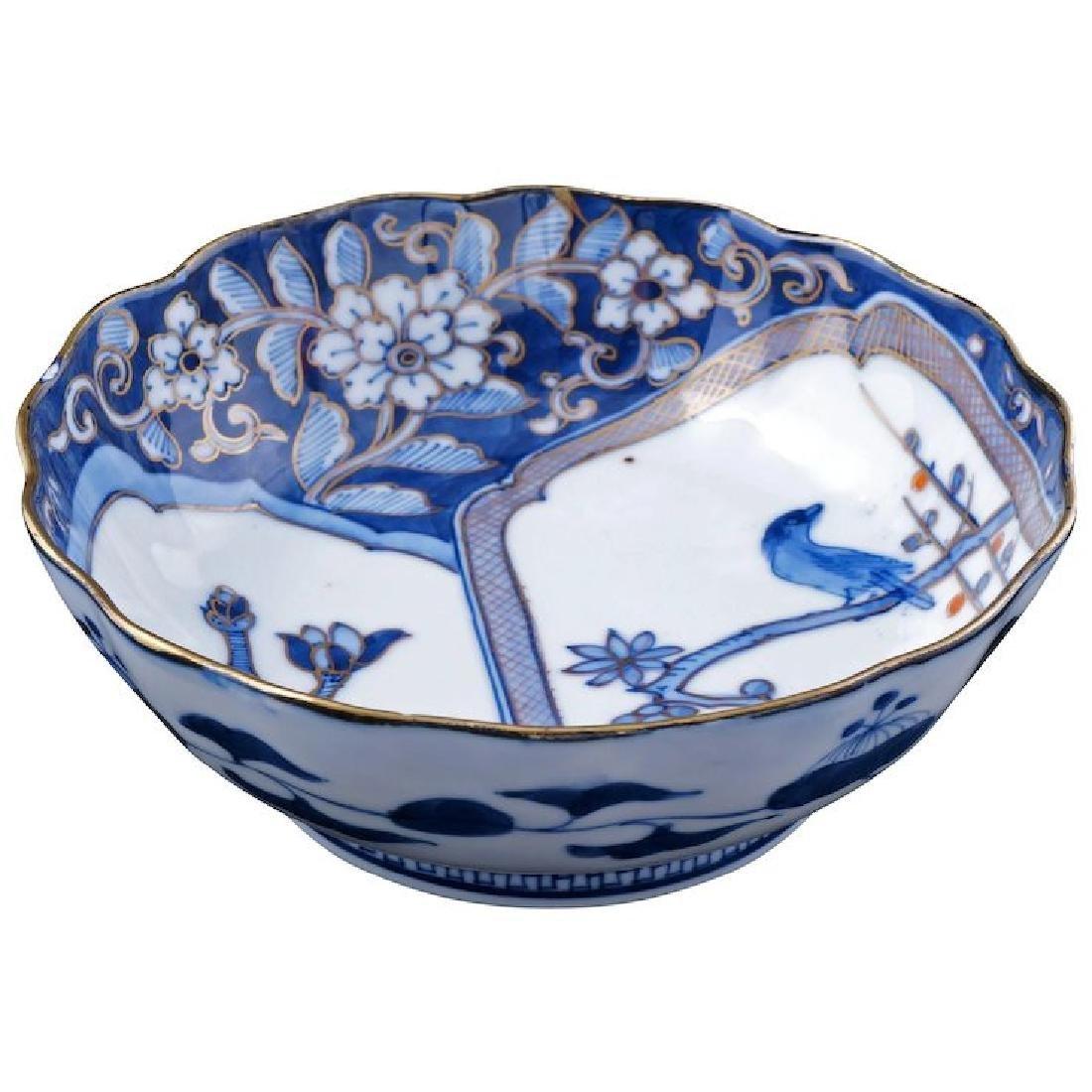 Japanese porcelain Imari dish with magnolia and bird
