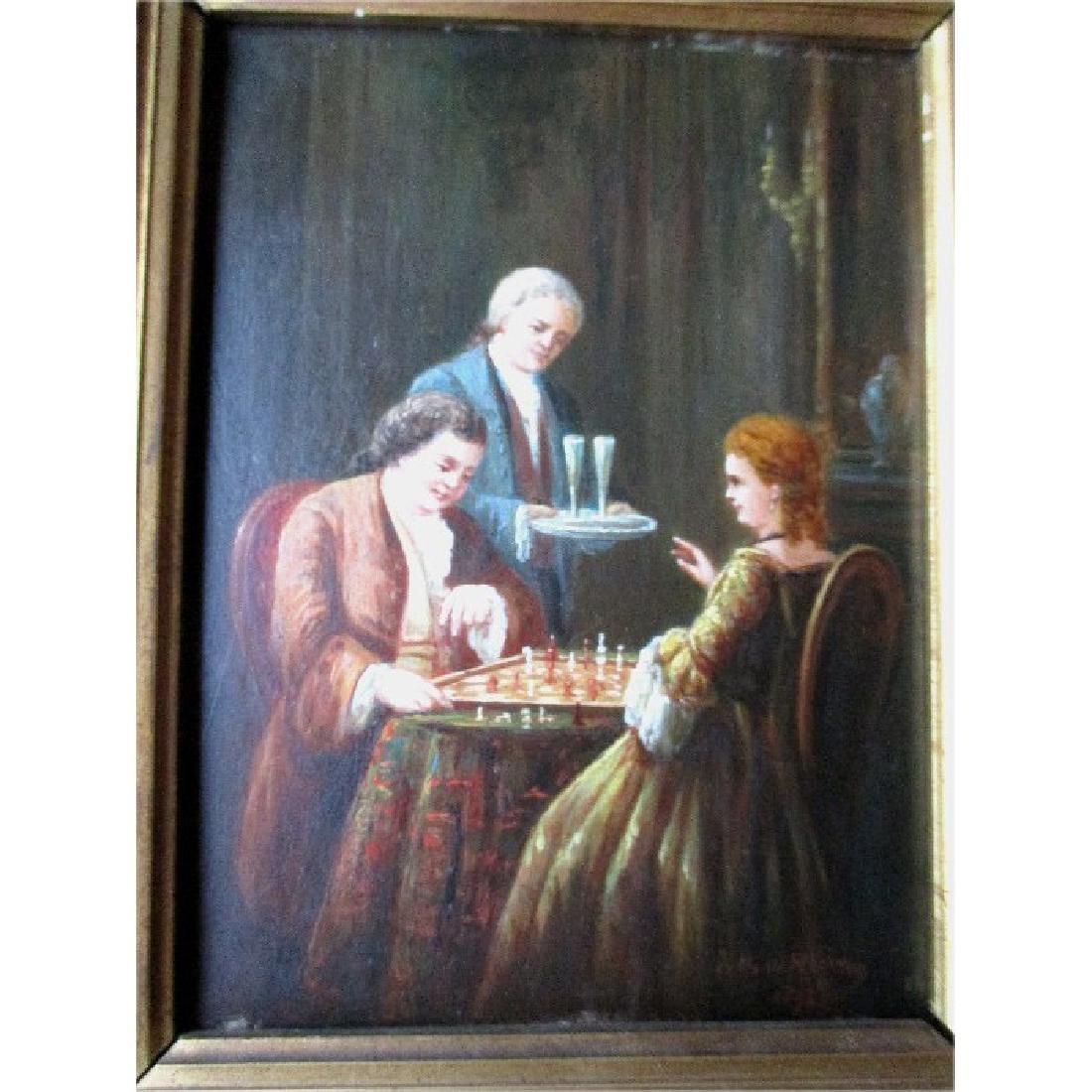 "Original Oil Painting by Dutch Artist ""Johannes van der"
