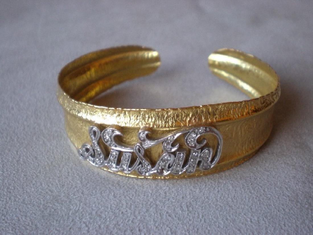 "Gorgeous 18k Gold and Diamond ""Susan"" Bracelet"