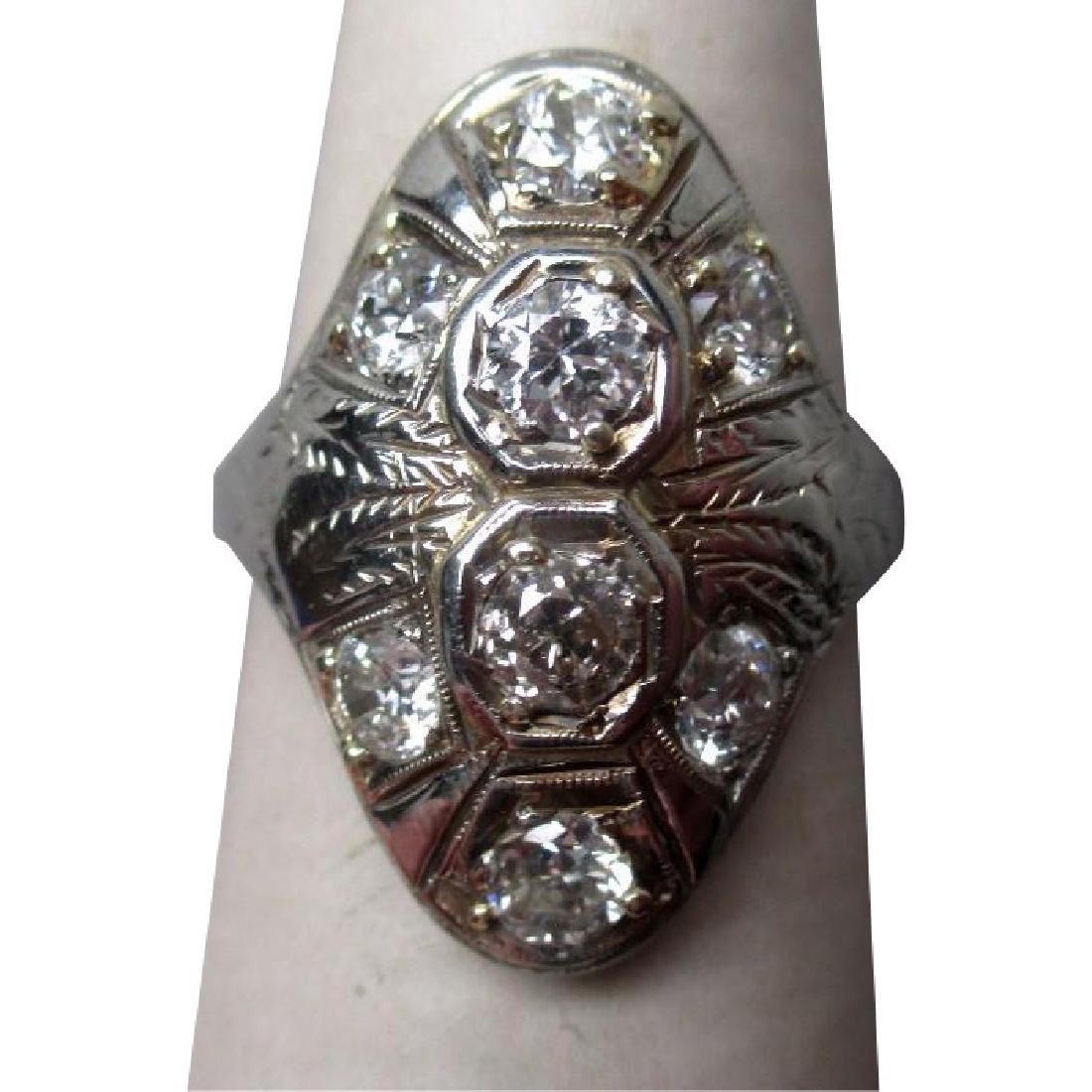 Stunning 18k White Gold and Multiple Diamond Ring