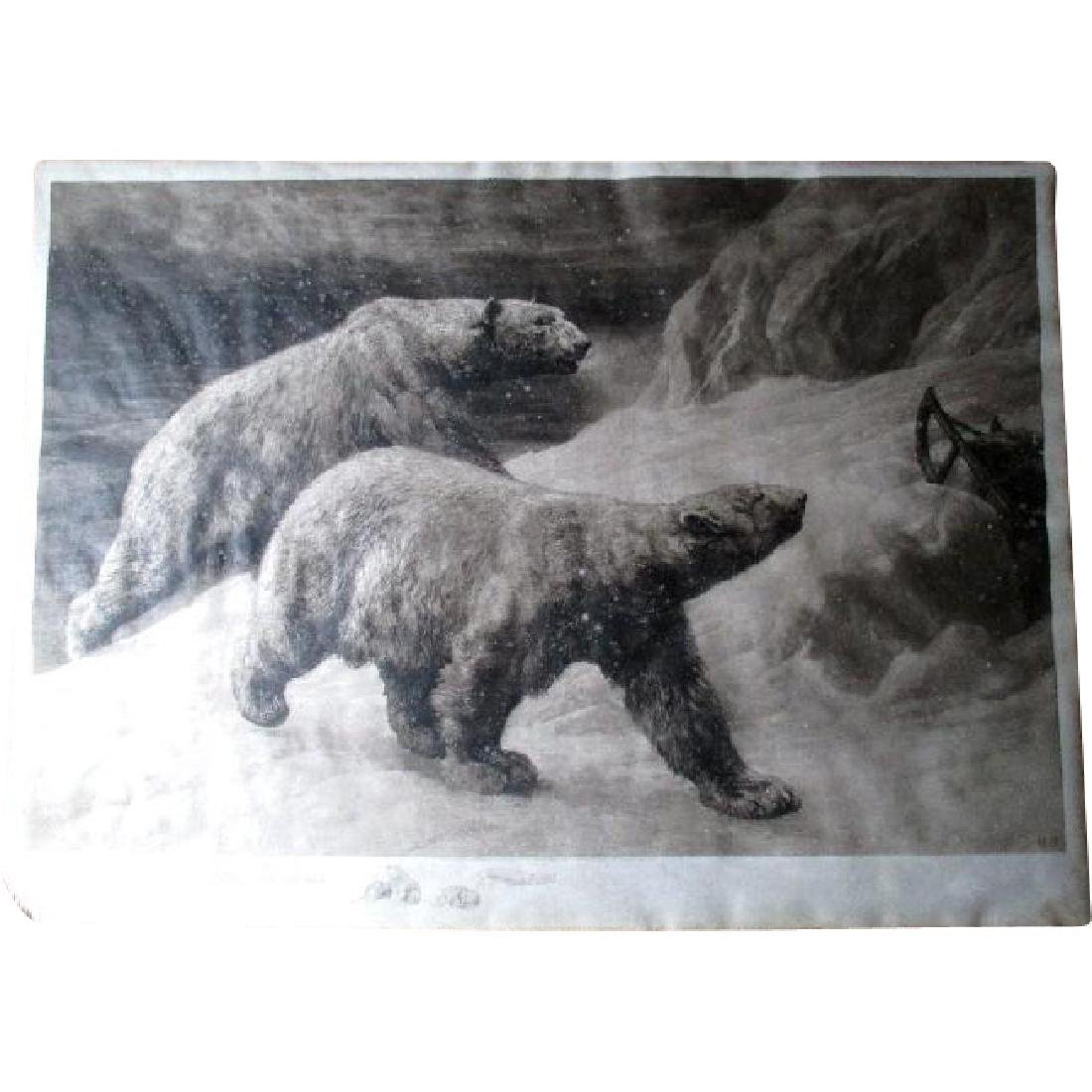 "Signed ""Herbert Dicksee (1862-1942)"" Etching of Polar"