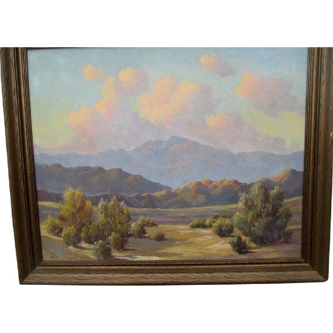 "Original Desert Scene Oil Painting by ""Charles Damrow"
