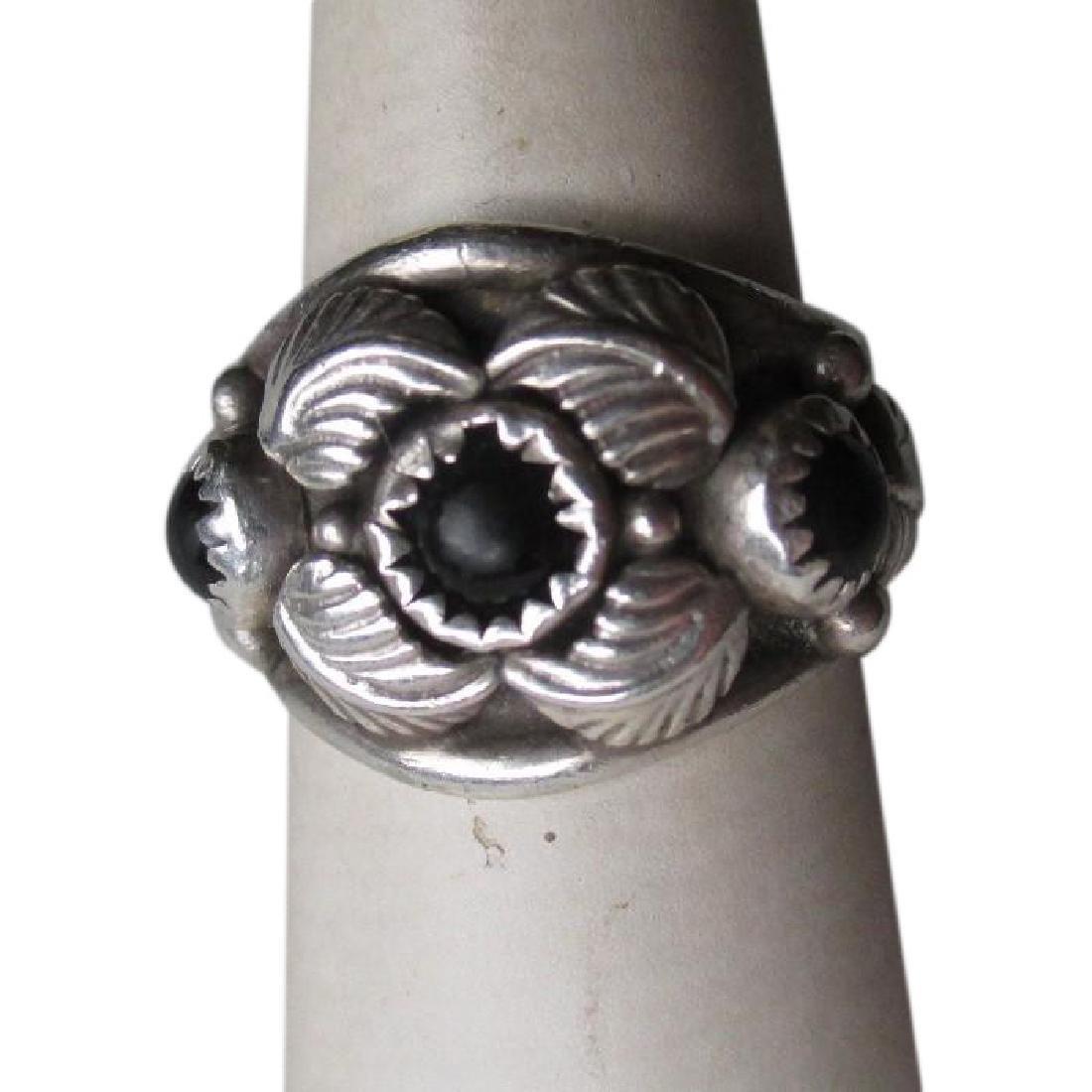 Fabulous Adam Fiero Navajo Jeweler Sterling Silver and