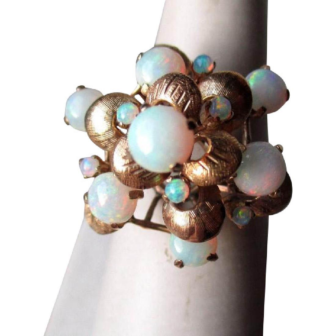 Stunning 18k Gold and Opal Princess Ring