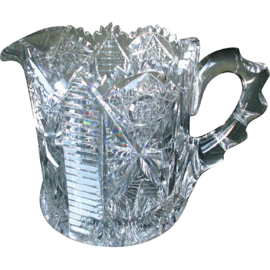 Gorgeous Signed Hawkes Crystal Pitcher - American