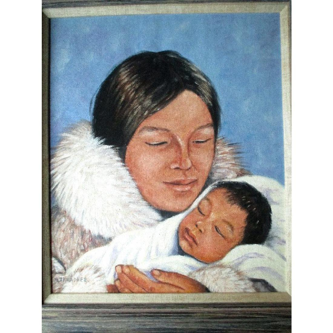 "Listed Canadian Artist ""Mona Thrasher (192-)"" Portrait"