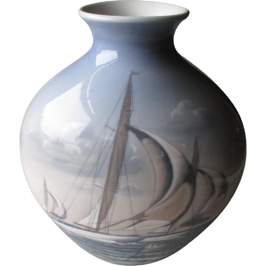 Stunning Large Bing & Grondahl Vase with Racing