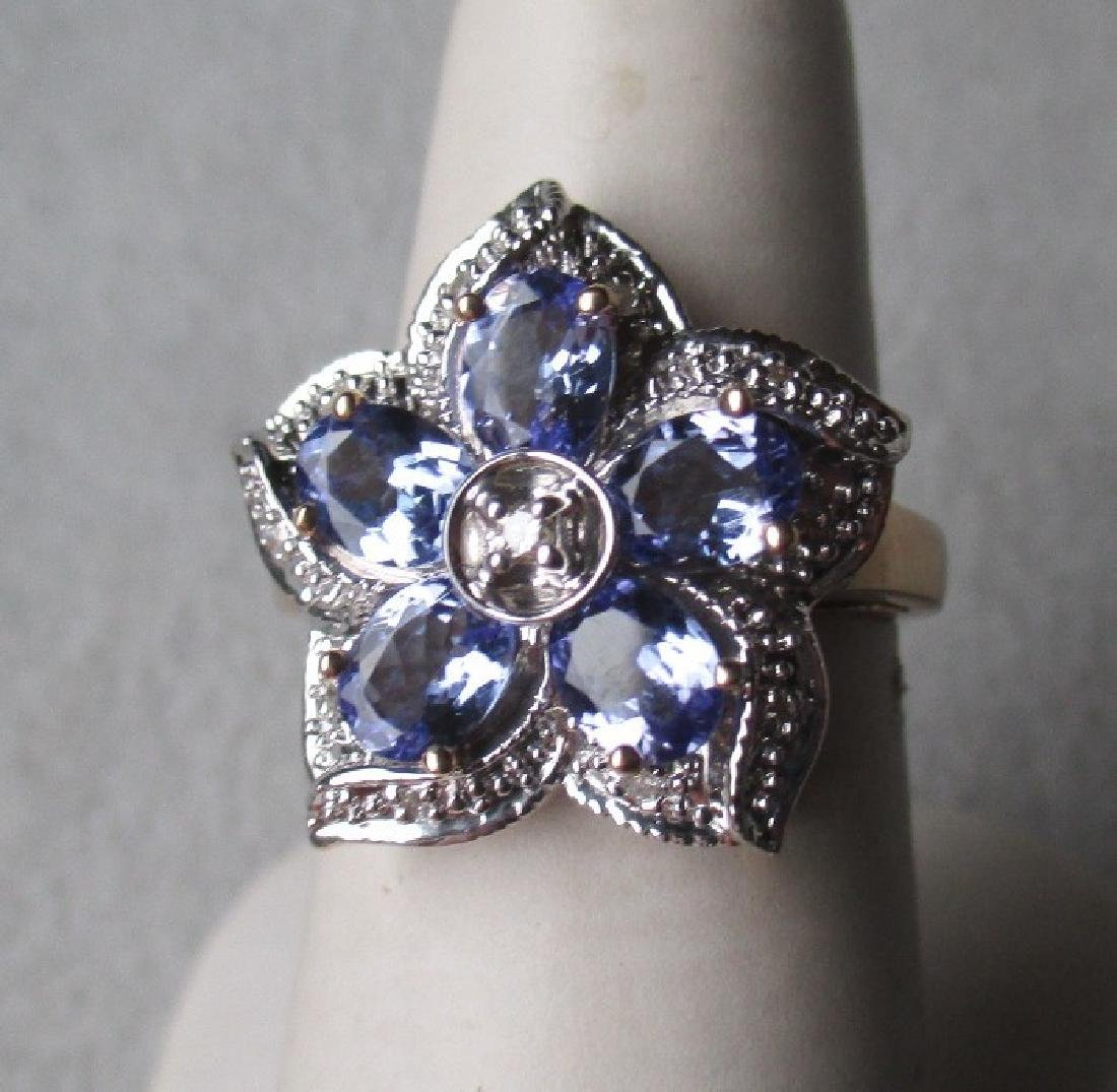 Stunning 14k Gold and Tanzanite / Diamond Ring