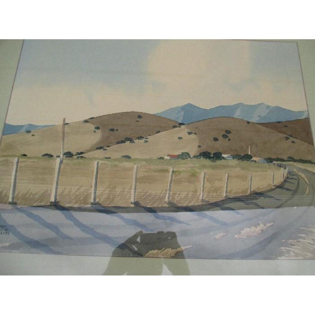 "Original California Watercolor Landscape - ""James March"