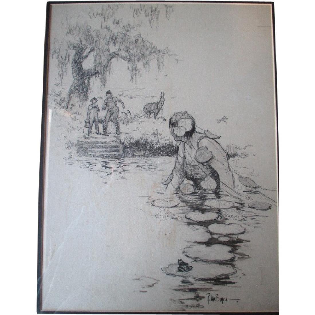 Original Saturday Evening Post Illustration - Raeburn