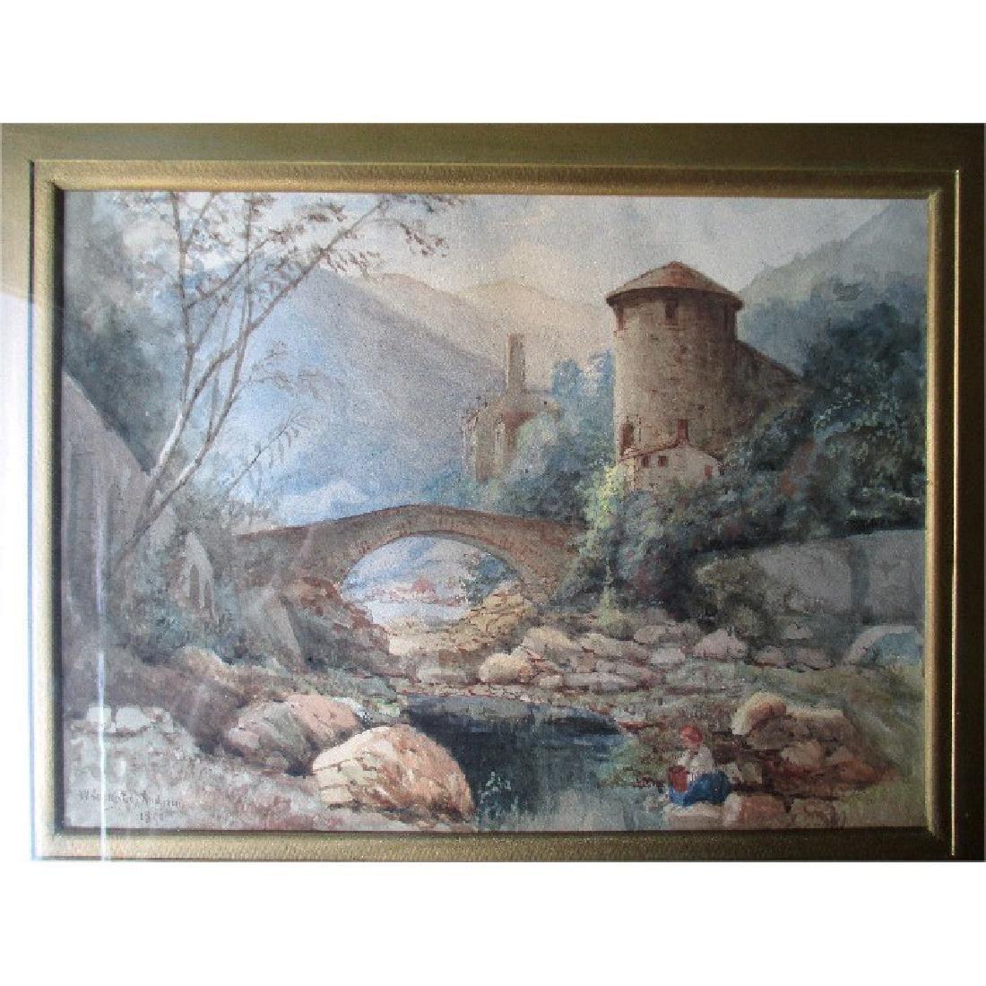 Original Watercolor Landscape Painting - W. Livingstone