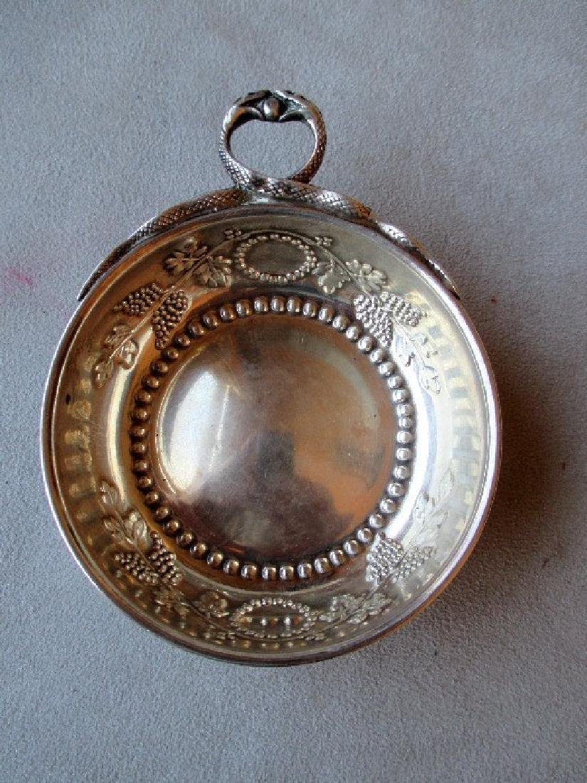 Magnificent French Sterling Silver Porringer with Snake