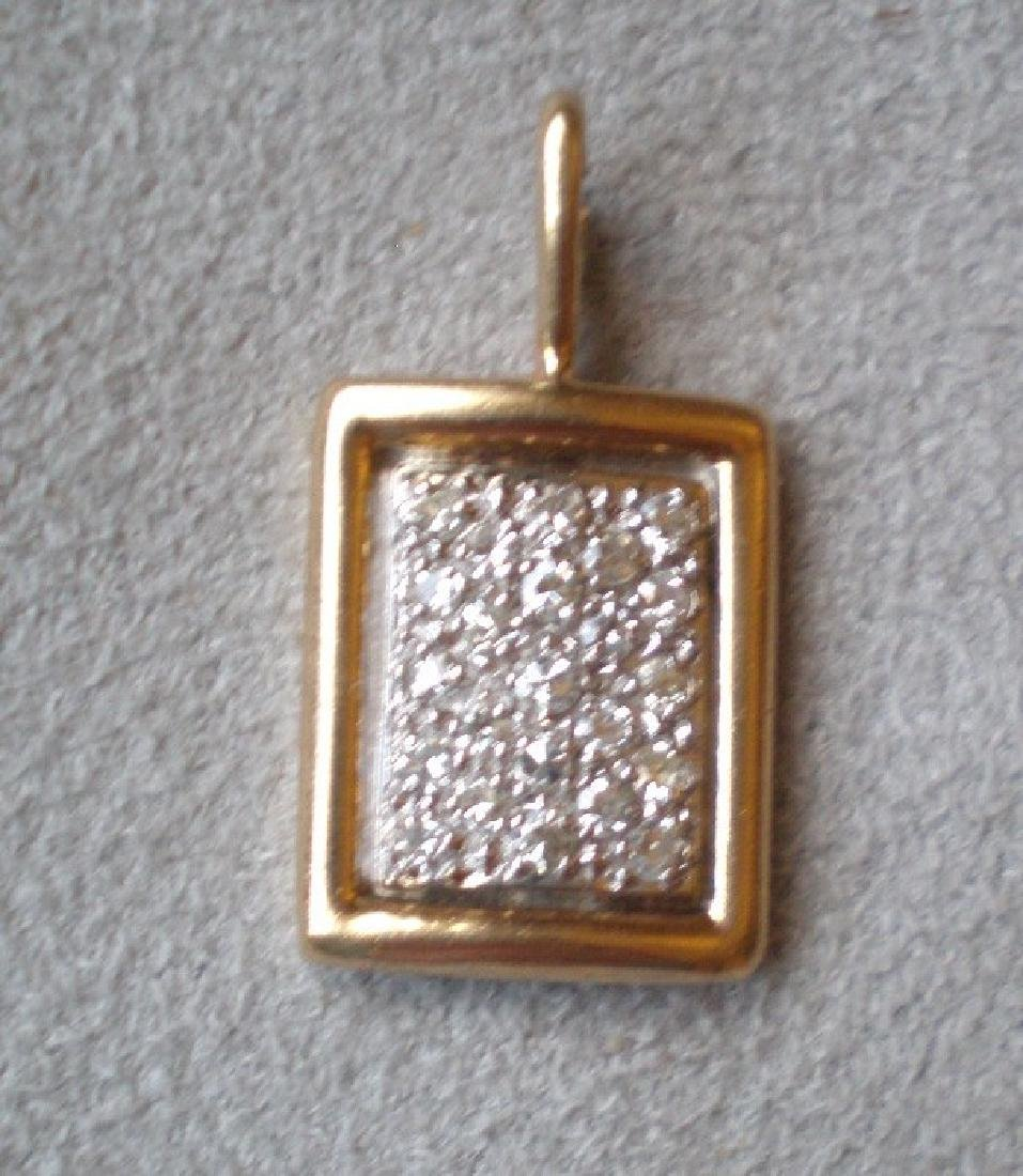 Beautiful 14k Gold and Diamond Charm for Bracelet