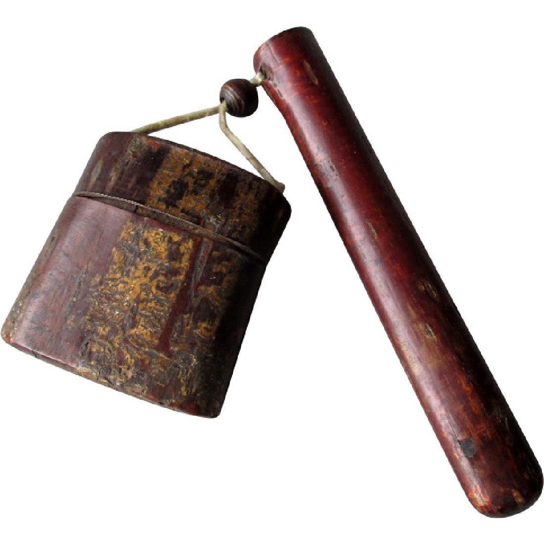 19th Century Japanese Cherry Bark Kiseruzutsu Pipe Case