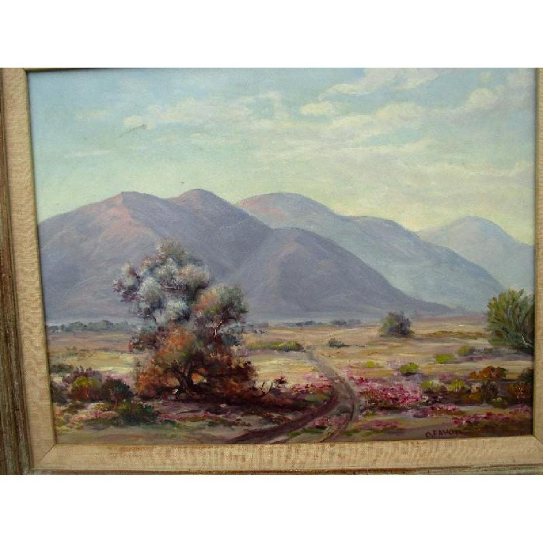 "Original Desert Landscape Oil Painting - ""O. Favor"""