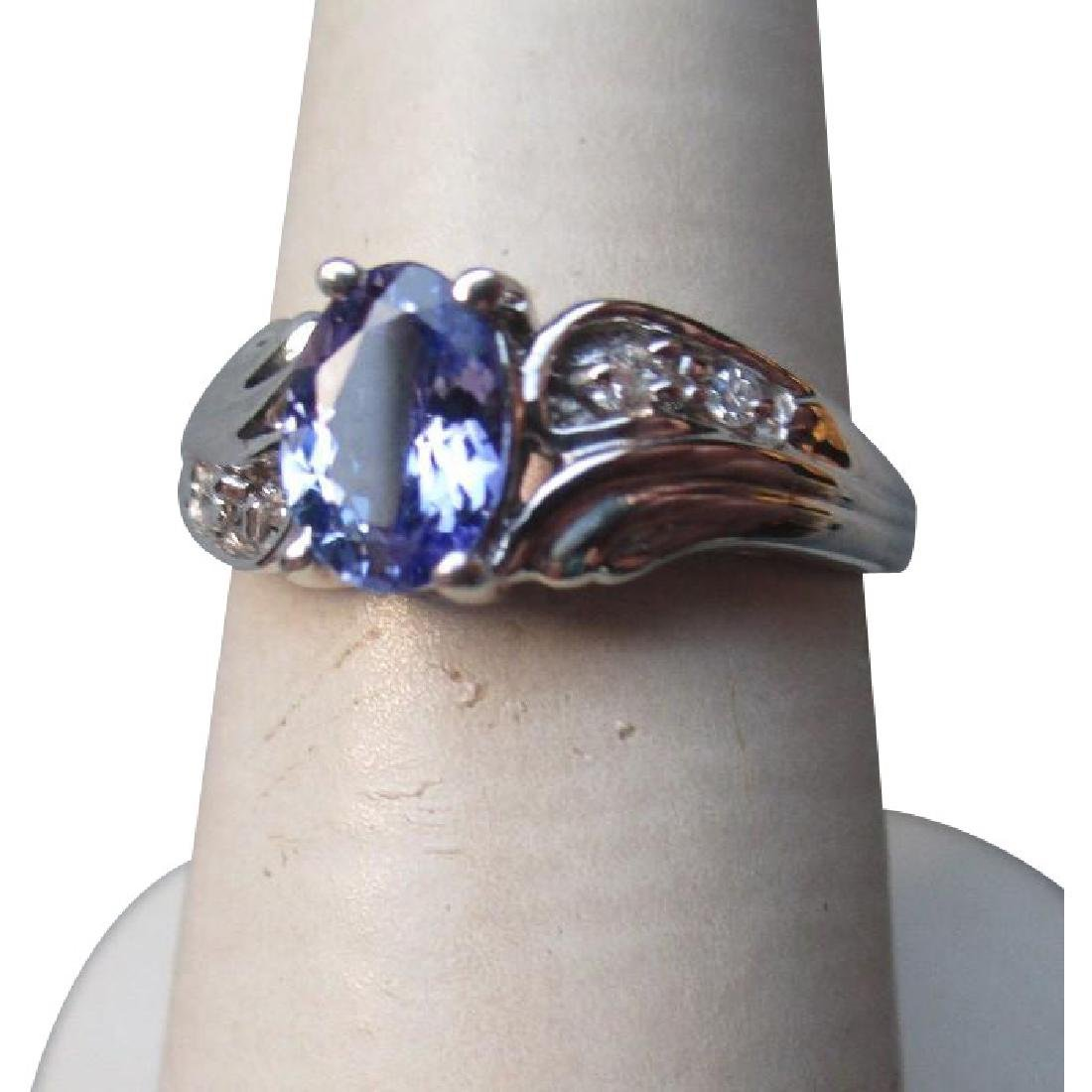 Beautiful 10k Gold and Tanzanite with Diamonds Ring