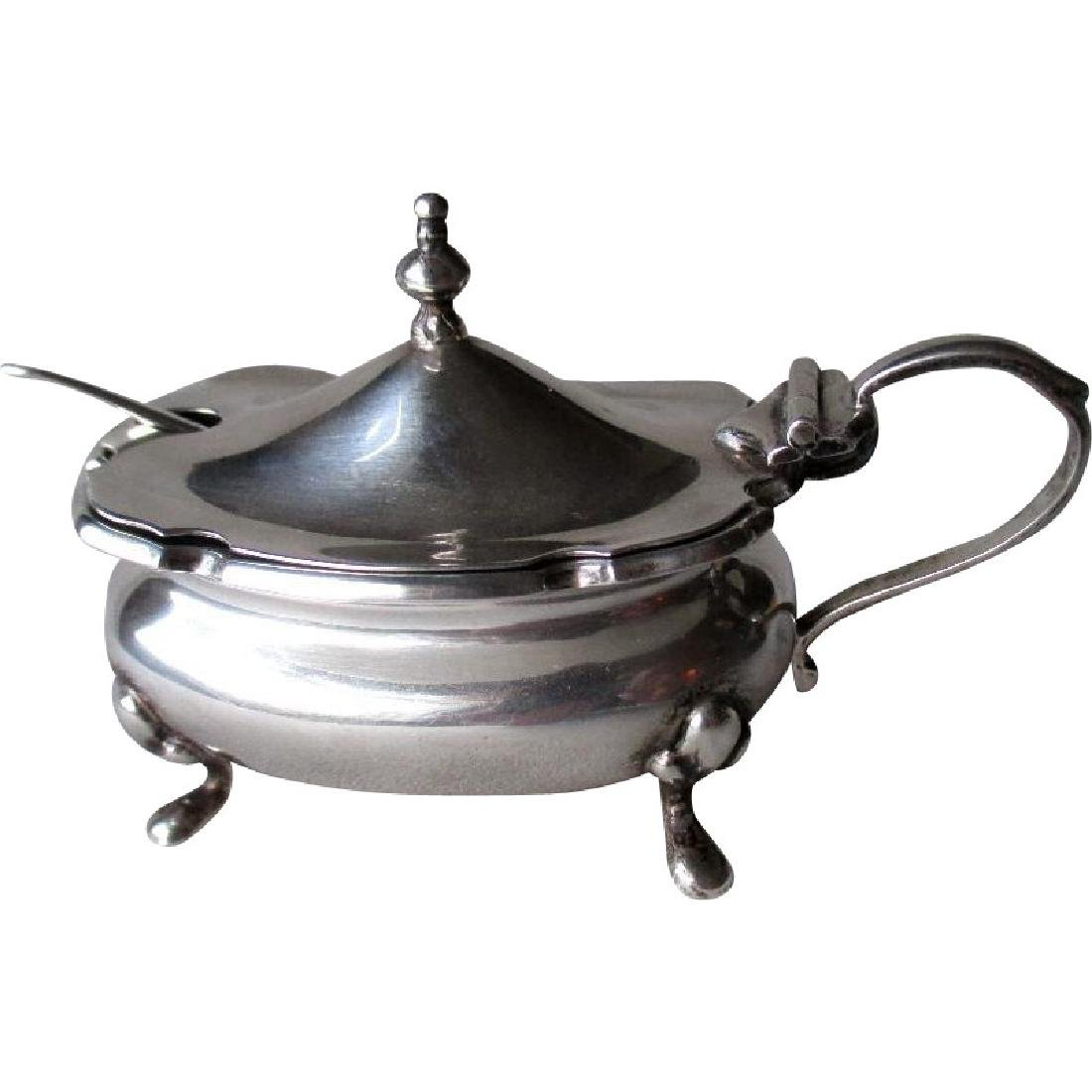 English Sterling Georgian Style Silver Condiment Dish -