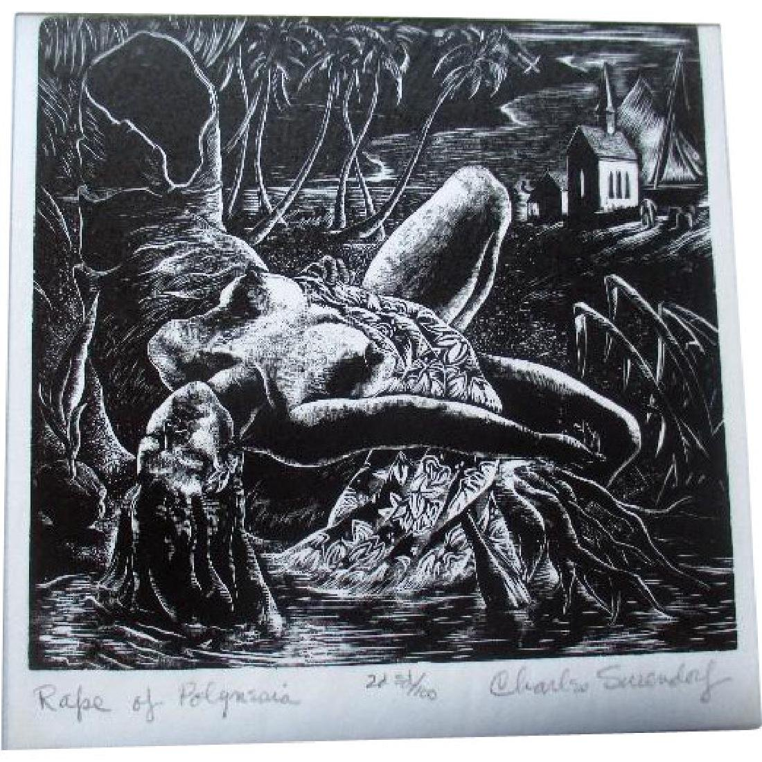 Signed / Numbered Linocut by Charles Surendorf - The