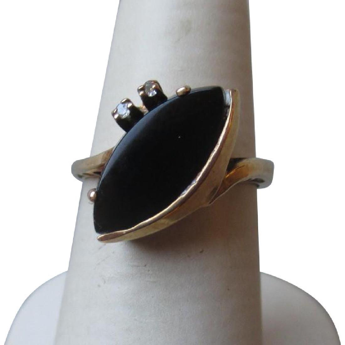 Beautiful 10k Gold and Black Onyx Ring