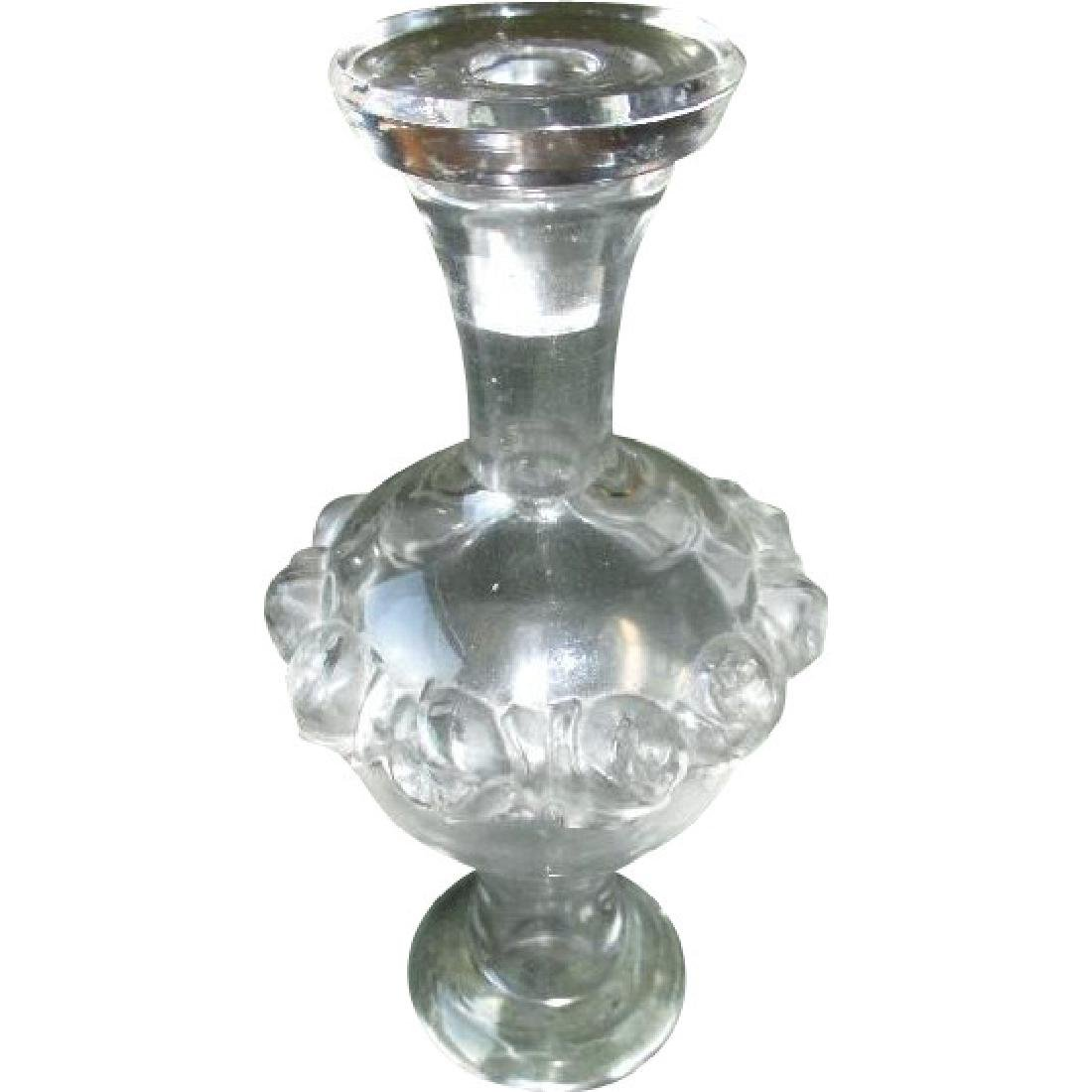 Gorgeous Lalique Perfume Bottle with Roses