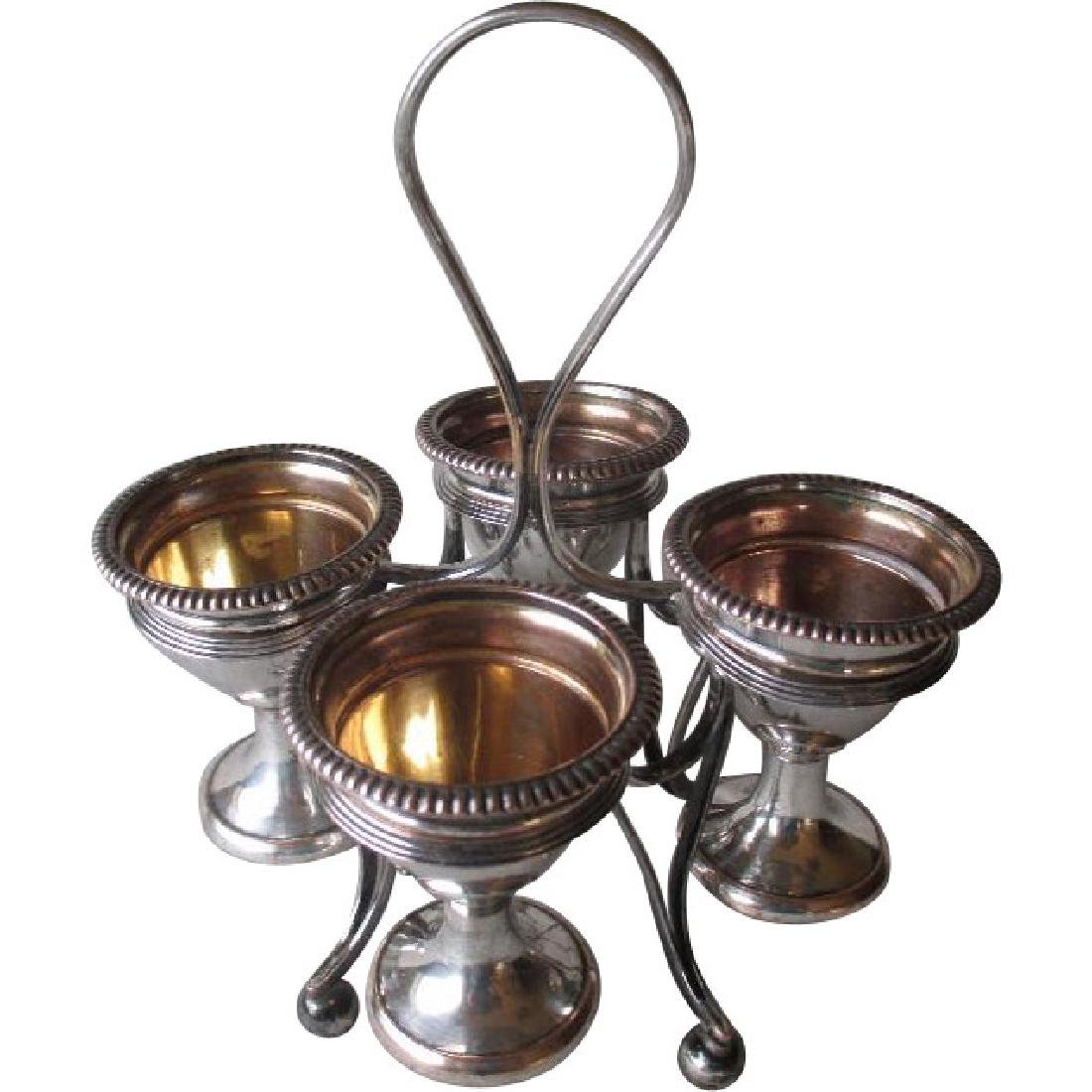 Great Vintage Silver Plate Egg Cup Holder