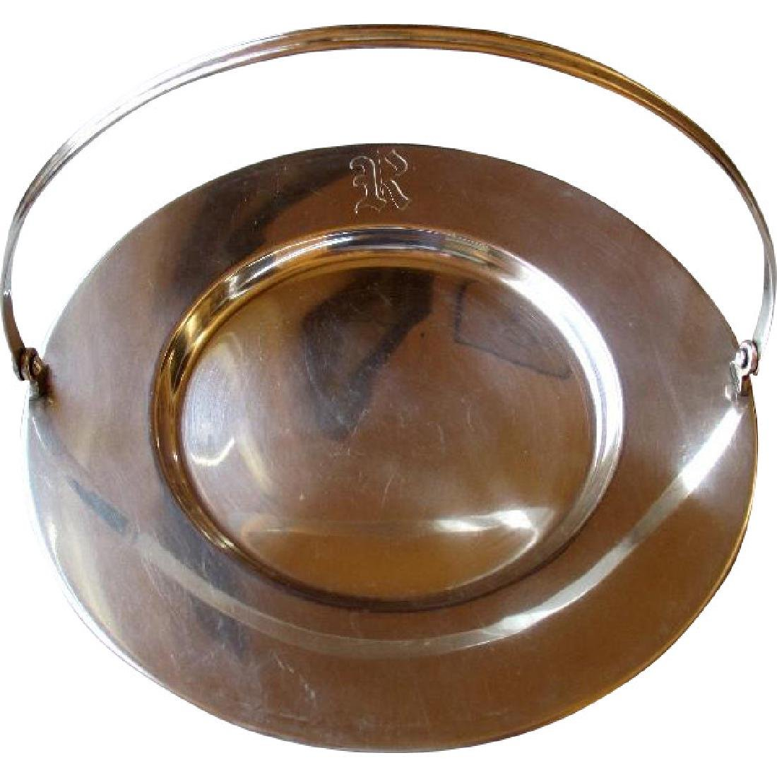 Great Towle Sterling Silver Serving Tray with Handle